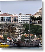 A Galleon At Bottom Of Port Mahon Menorca One Of The Largest Natural Harbours In The World Metal Print