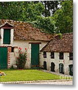 La Pillebourdiere Old Farm Outbuildings In The Loire Valley Metal Print by Louise Heusinkveld