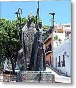 La Rogativa Sculpture Old San Juan Puerto Rico Metal Print by Shawn O'Brien