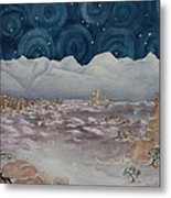 La Sal Mountains In The Snow Metal Print