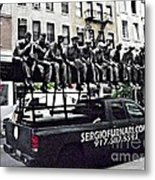 Labor Day On West Broadway Nyc Metal Print