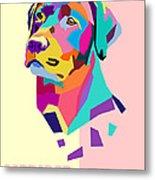 Labrador Portrait Metal Print