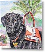 Labrador Retriever Service Dog Metal Print