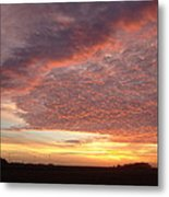 Lacy Pink Sunset Metal Print