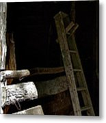Ladder In The Shadow Metal Print