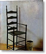 Ladderback Metal Print by Judi Bagwell