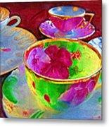 Ladies Tea Time Metal Print