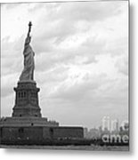 Lady And The Harbor Metal Print