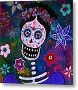 Lady Frida Metal Print