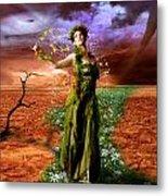 Lady Gaia Metal Print by Julie L Hoddinott