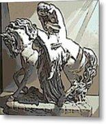 Lady Godiva Statue Metal Print