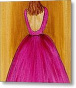 Lady In Pink 4536 Metal Print by Jessie Meier