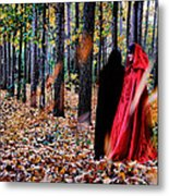Lady In Red - 4 Metal Print