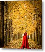 Lady In Red - 5 Metal Print by Okan YILMAZ