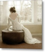 Lady In Sequin Gown Metal Print