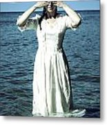 Lady In Water Metal Print
