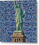 Lady Liberty Mosaic Metal Print