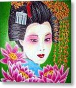 Lady Lotus Metal Print