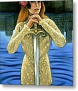 Lady Of The Lake Metal Print by Sue Halstenberg