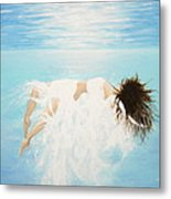 Lady Of The Water Metal Print