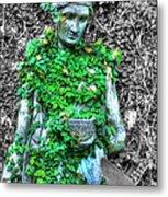 Lady Statue Metal Print