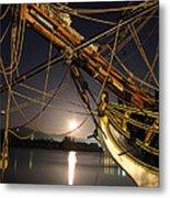 Lady Washington - Moonlight On Coos Bay Metal Print