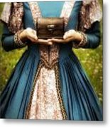 Lady With A Chest Metal Print