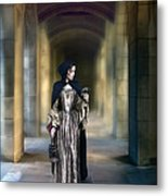 Lady With Bird Metal Print