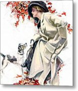 Lady With Dog Metal Print
