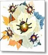 Ladybug Illustration Metal Print