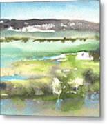 Lagoon In Spain Metal Print