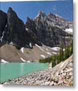 Lake Agnes And Mt Whyte Metal Print