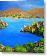 Lake  Aviemore - - Fine Art Impressionist Serenity Landscape Metal Print
