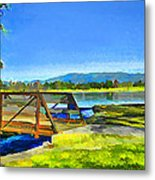 Lake Balboa Bridge Metal Print