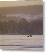 Lake Crossing  February 2010 Metal Print