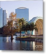 Lake Eola's  Classical Revival Amphitheater Metal Print by Lynn Palmer
