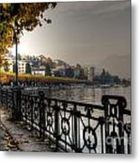 Lake Front With Autumn Trees Metal Print