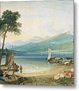 Lake Geneva And Mont Blanc Metal Print by Joseph Mallord William Turner