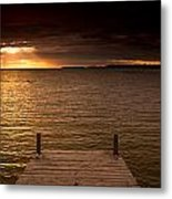 Lake Huron Dock Metal Print