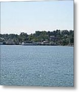 Lake Huron Shoreline And Harbor - Michigan Metal Print