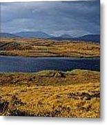 Lake In A Bog, Oughterard, Connemara Metal Print