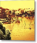 Lake In India Metal Print
