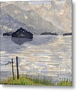 Lake Kilarney Ring Of Kerry Watercolour Painting Metal Print