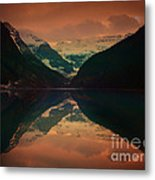 Lake Louise Abstract Metal Print