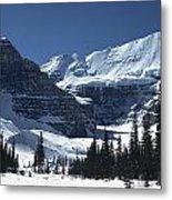 Lake Louise Glacier Metal Print
