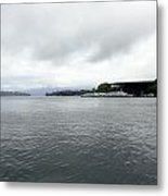 Lake Lucerne And Cruise Ships Berthed In Front Of Kkl Metal Print