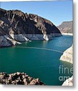 Lake Mead By Hoover Dam Metal Print