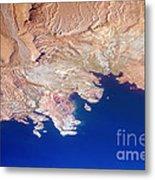Lake Mead Shores Nv Planet Earth Metal Print