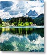 Lake Misurina - Dolomites, Italy Metal Print