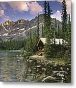 Lake Ohara Lodge Metal Print